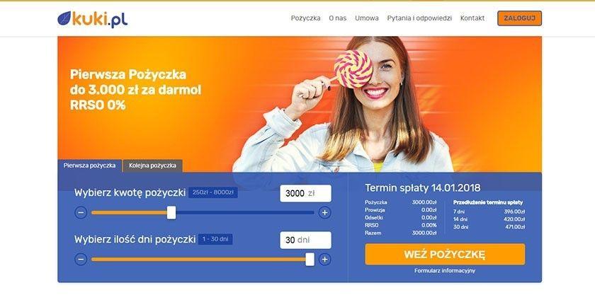 Kuki.pl – pożyczka przez Internet do 10000 zł
