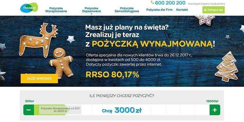 Provident – szybka pożyczka gotówkowa do 15 000 zł