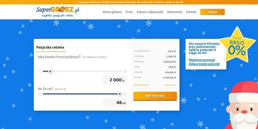 Supergrosz – szybkie pożyczki online na raty