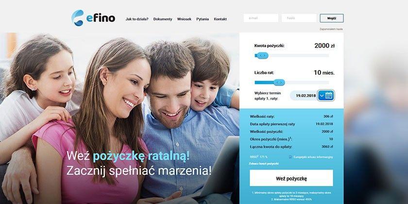 Efino – weź pożyczkę ratalną do 10000 zł