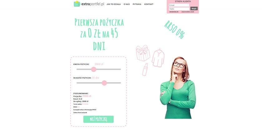 Extraportfel – pożyczki od 100 do 5000 zł na okres do 45 dni