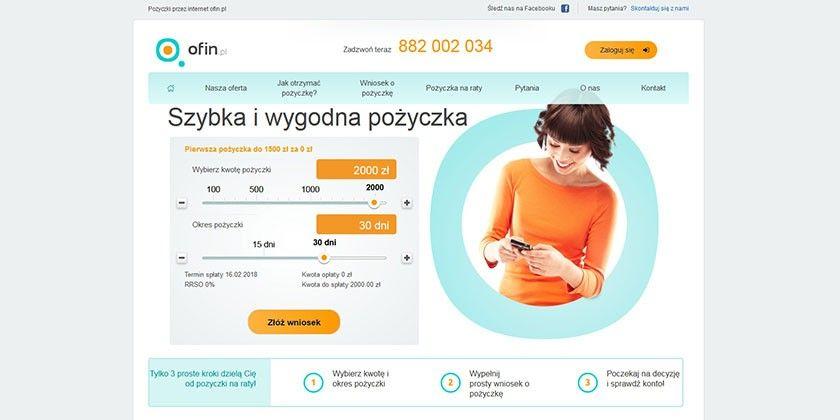 Ofin.pl – szybka i wygodna pożyczka do 2000 zł