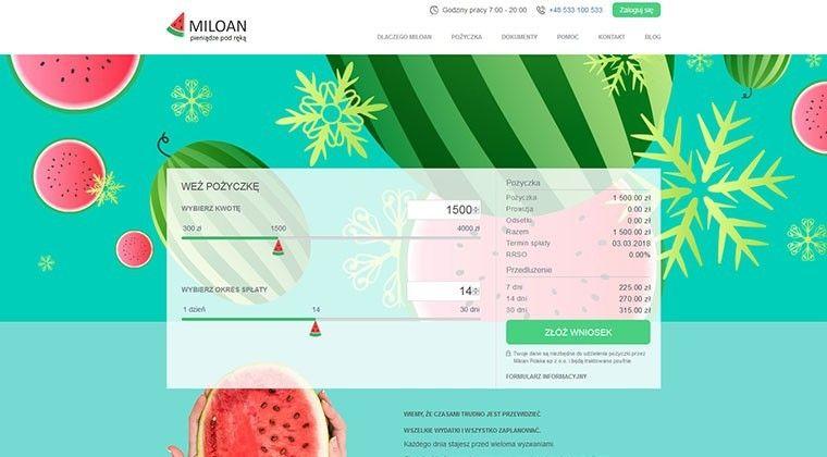 Miloan – chwilówki online nawet 4000 zł