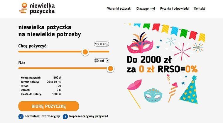 Niewielka Pożyczka – pożyczysz szybko do 2000 zł.