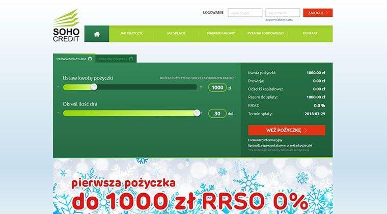 Soho Credit – chwilówki online do 4000 zł