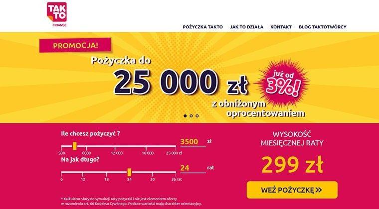 TakTo Finanse – szybkie pożyczki na raty do 25000 zł.