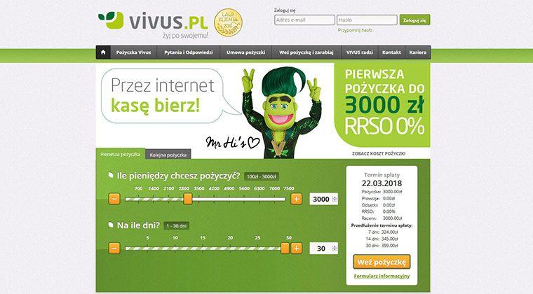 Vivus – szybko ? łatwo ✅ bezpiecznie ? do 7500 zł