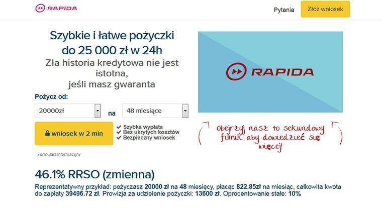 Rapida Money – szybkie i łatwe pożyczki do 25 000 zł