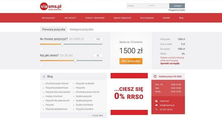 Viasms – szybka pożyczka online do 4000 zł