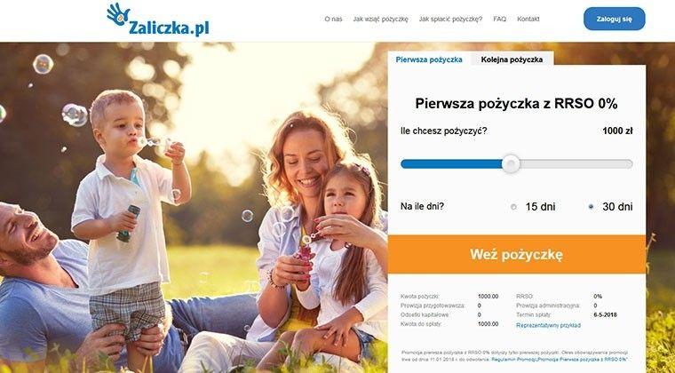 Zaliczka – online pożyceka do 2000 zł