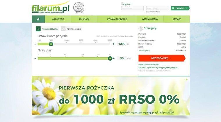 Filarum.pl – pożyczki przez internet do 5000 zł