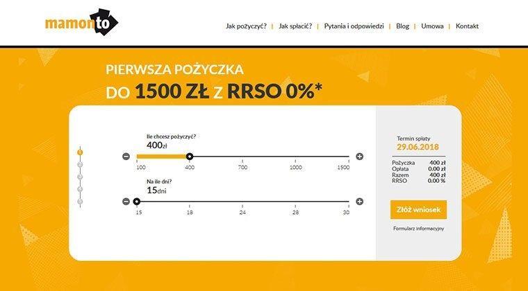Mamonto – pożyczka online, opinie, warunki, kontakty - MarketPozyczka.