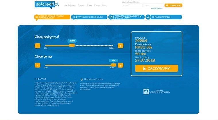 Solcredit – chwilówki i kredyt gotówkowy przez internet do 5000 zł