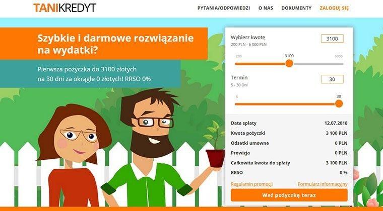 Tanikredyt.pl – online pożyczki do 6000 złotych