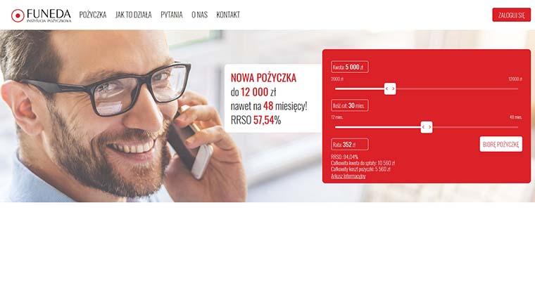 Funeda – pożyczka na raty do 12 000 zł