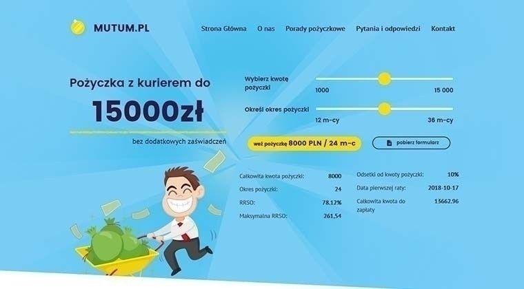 Mutum.pl – pożyczki na raty do 15000 zł