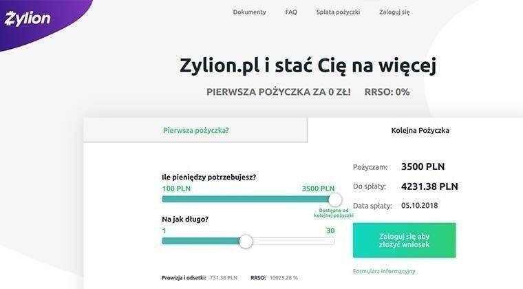 Zylion – pożyczki pozabankowe do 3500 zł