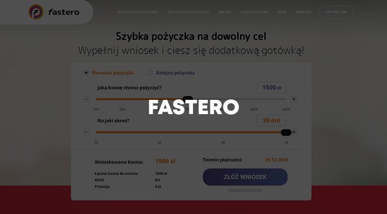 Fastero – szybka pożyczka do 3000 zł